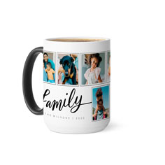 script family collage color changing mug