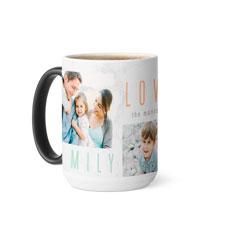 marble family love joy color changing mug