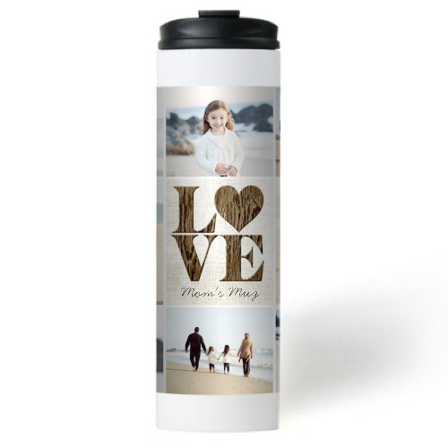 Lovely Burlap Stainless Steel Travel Mug
