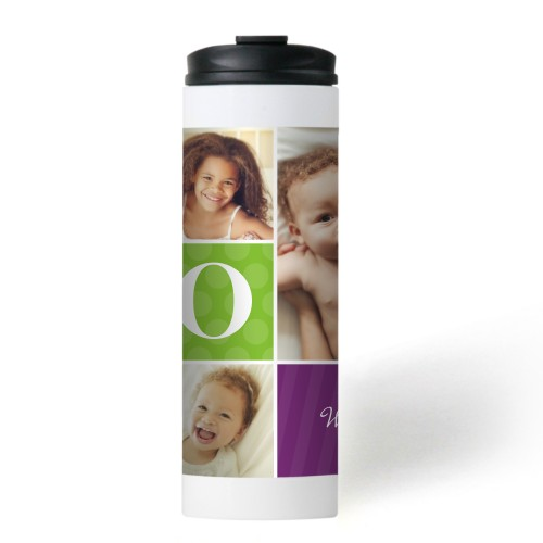 Mom Color Blocks Stainless Steel Travel Mug