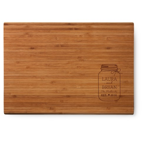 Mason Jar Cutting Board
