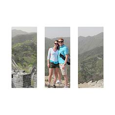 three panoramic 10x24 metal prints