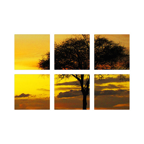 Symmetrical Six Spread Metal Prints, Multi piece, True Color / Matte, Multicolor