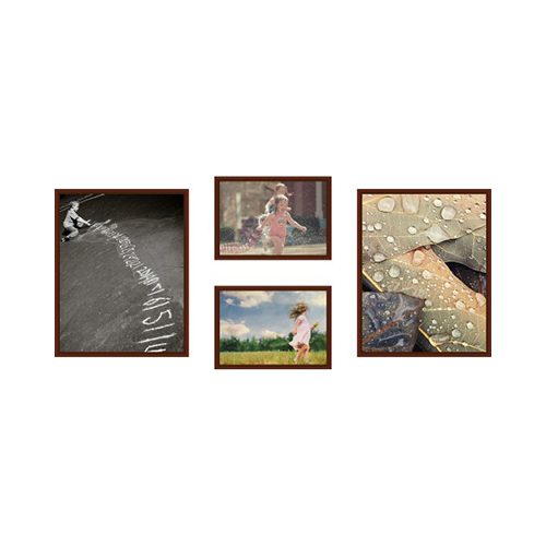 Wall decor horizontal : Horizontal reverse picture window mounted wall art home