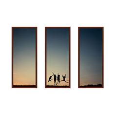 three panoramic 10x24 spread mounted wall art