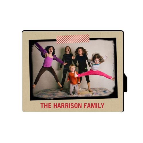 Washi Tape Frame Desktop Plaque, Rectangle, 8 x 10 inches, Beige