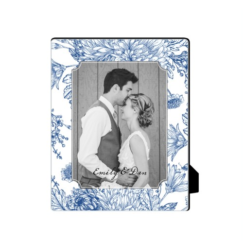 Toile Frame Desktop Plaque, Rectangle, 8 x 10 inches, Blue