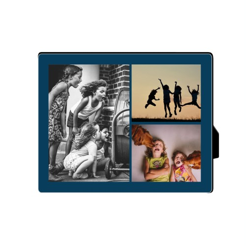 Gallery of Three Desktop Plaque, Rectangle, 8 x 10 inches, Blue