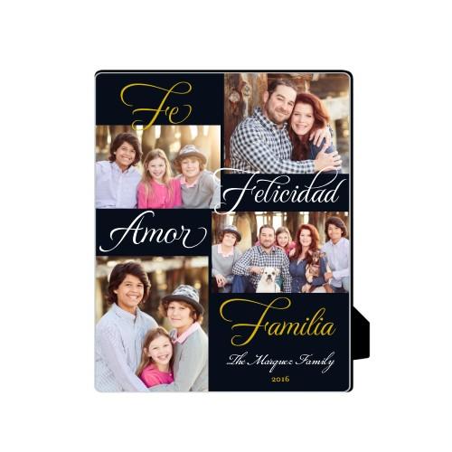 Amor Familia Felicidad Desktop Plaque