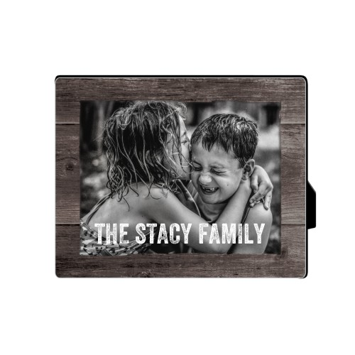 Printed Weathered Wood Horizontal Desktop Plaque, Rectangle, 8 x 10 inches, Brown