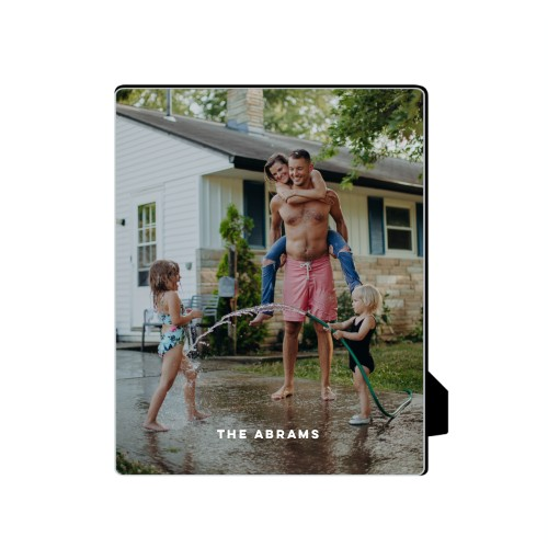 Photo Gallery Vertical Desktop Plaque, Rectangle, 8 x 10 inches, White