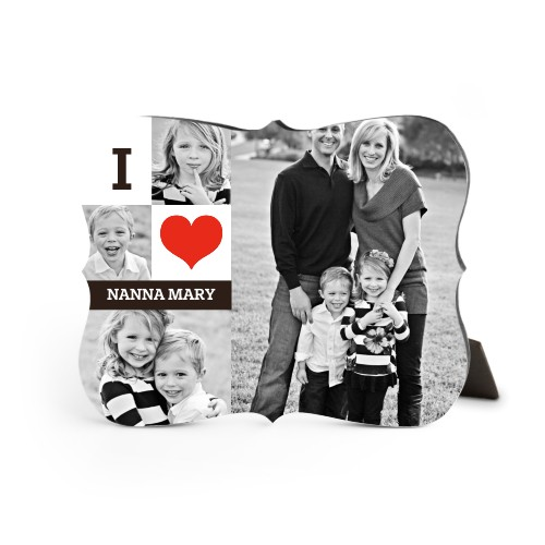 I Heart You Desktop Plaque, Bracket, 8 x 10 inches, DynamicColor