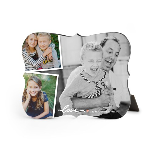 Simply Love Desktop Plaque, Bracket, 8 x 10 inches, White