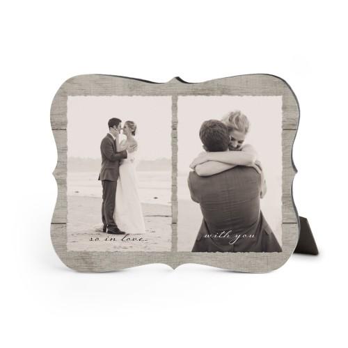 Printed Rustic Wood Desktop Plaque, Bracket, 8 x 10 inches, Beige