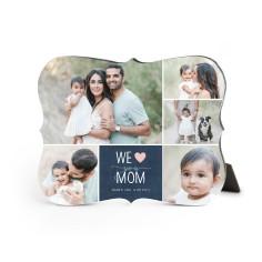 we love mom desktop plaque
