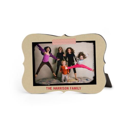 Washi Tape Frame Desktop Plaque, Bracket, 5 x 7 inches, Beige