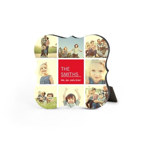 Family Collage Squares Desktop Plaque, Bracket, 5 x 5 inches, DynamicColor