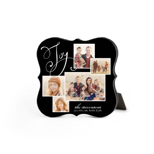 Many Joys Desktop Plaque, Bracket, 5 x 5 inches, Black