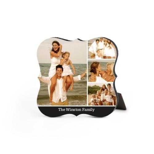Simply Family Desktop Plaque, Bracket, 5 x 5 inches, Black