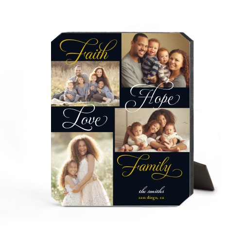 Faith And Family Desktop Plaque, Ticket, 8 x 10 inches, DynamicColor