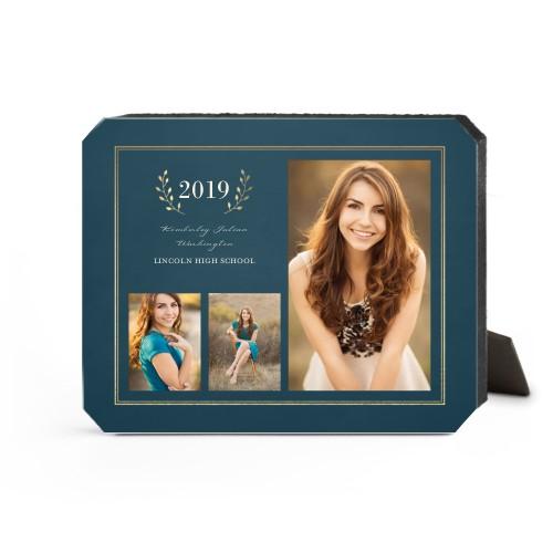 Graduation Celebration Desktop Plaque, Ticket, 8 x 10 inches, Blue