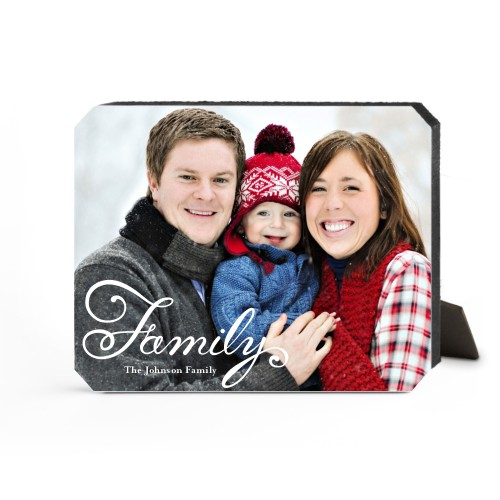 Hand-Lettered Family Desktop Plaque, Ticket, 8 x 10 inches, White