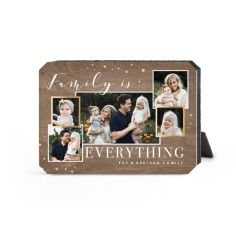 family overlap collage desktop plaque