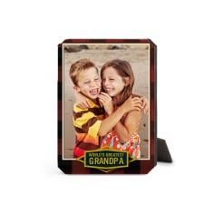 Greatest Grandpa Plaid Desktop Plaque