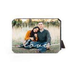 modern scripted love desktop plaque