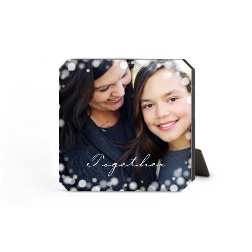 Bokeh Frame Desktop Plaque, Ticket, 5 x 5 inches, White