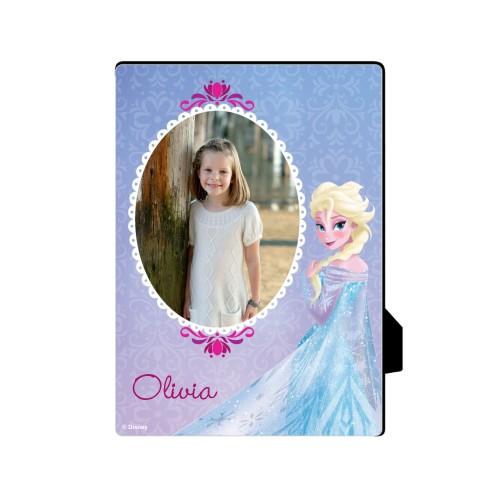 Disney Frozen Elsa Desktop Plaque, Rectangle, 5 x 7 inches, Purple