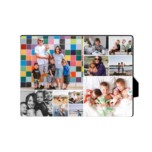 Collage Squares Horizontal Desktop Plaque, Rectangle, 5 x 7 inches, White