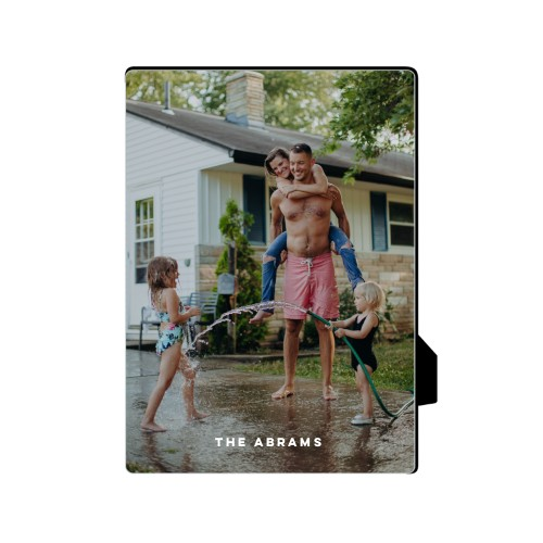 Photo Gallery Vertical Desktop Plaque, Rectangle, 5 x 7 inches, White