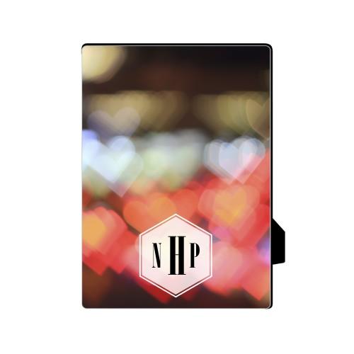 Bokeh Heart  Desktop Plaque
