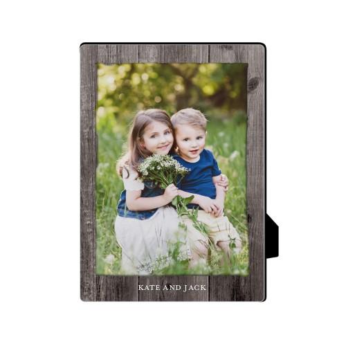 Weathered Wood Frame Desktop Plaque