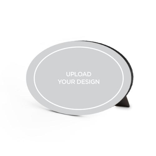 Upload Your Own Design Landscape Oval Desktop Plaque, Oval, 6 x 8.5 inches, Multicolor
