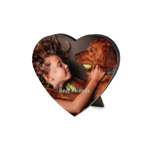 Photo Gallery Heart-Shaped Desktop Plaque, Heart, 6 x 6.5 inches, Multicolor