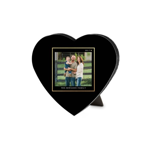 Simply Elegant Frame Heart Desktop Plaque
