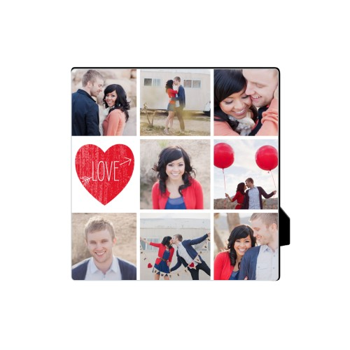 Love Moments Desktop Plaque, Rectangle, 5 x 5 inches, Red