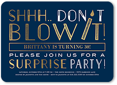 Surprise Candle Birthday Invitation