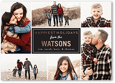 gridded greetings holiday card
