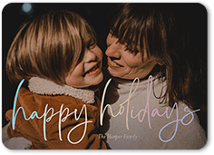 artful script holiday card