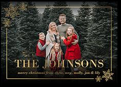 Snowflake Family Name Christmas Card