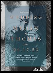 vitreous love wedding invitation