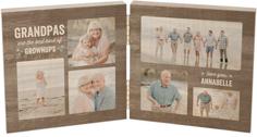 star grandparents double wooden print