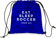 active eat sleep soccer drawstring backpack
