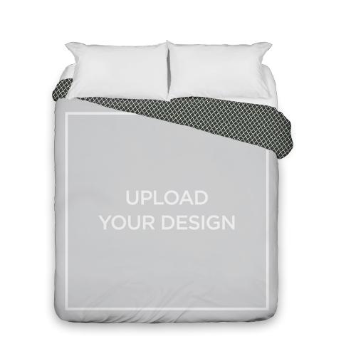Upload Your Own Design Duvet Cover, Duvet, Duvet Cover w/ Black Lantern Back, Queen, Multicolor