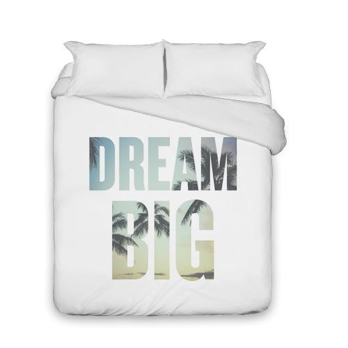 Dream Big Duvet Cover, Duvet, Duvet Cover w/ White Back, Queen, White