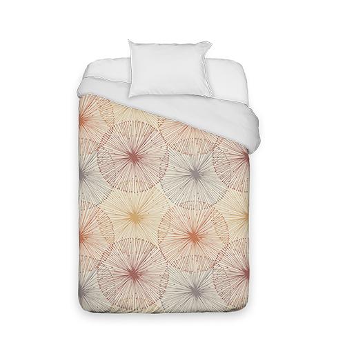 Dandelions Duvet Cover, Duvet, Duvet Cover w/ White Back, Twin, Multicolor