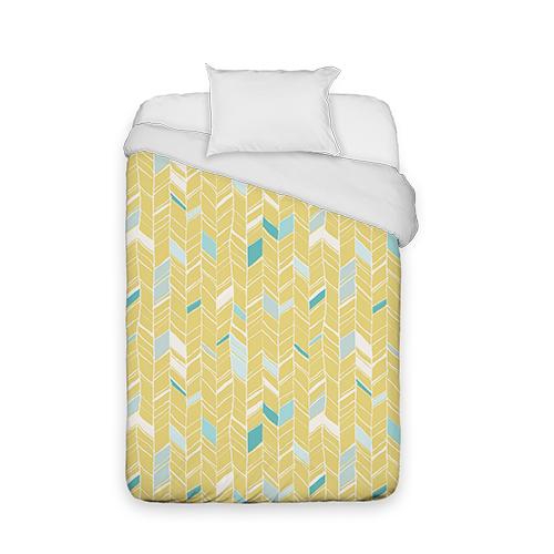 Multi Herringbone Duvet Cover, Duvet, Duvet Cover w/ White Back, Twin, Multicolor